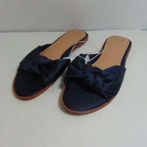 A New Day Stacia Sandal Knotted Blue Slides Shoes